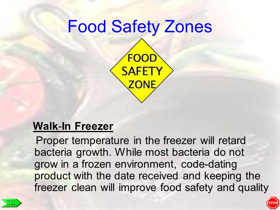 Food Safety Zones Walk-In Freezer