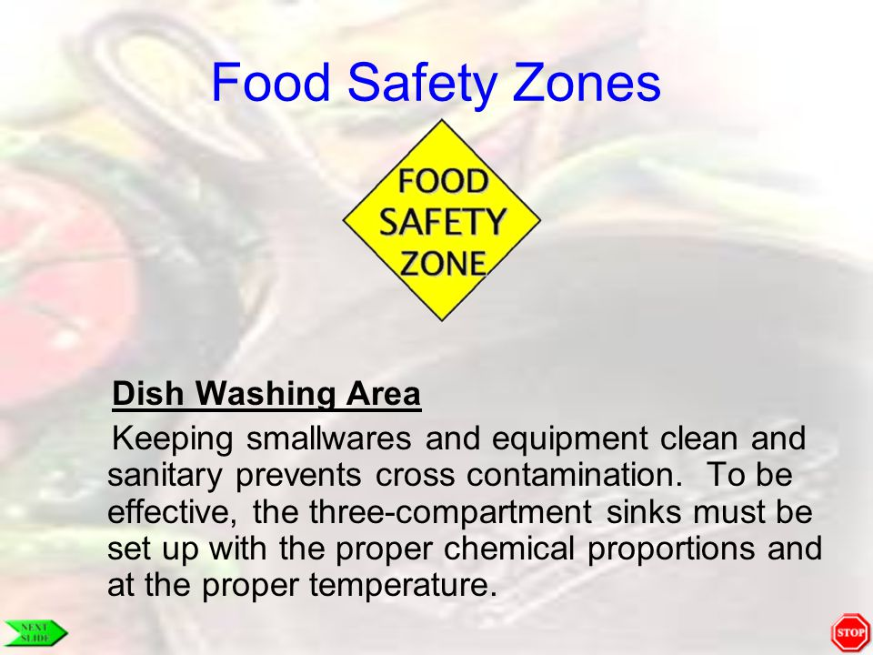 Food Safety Zones Dish Washing Area