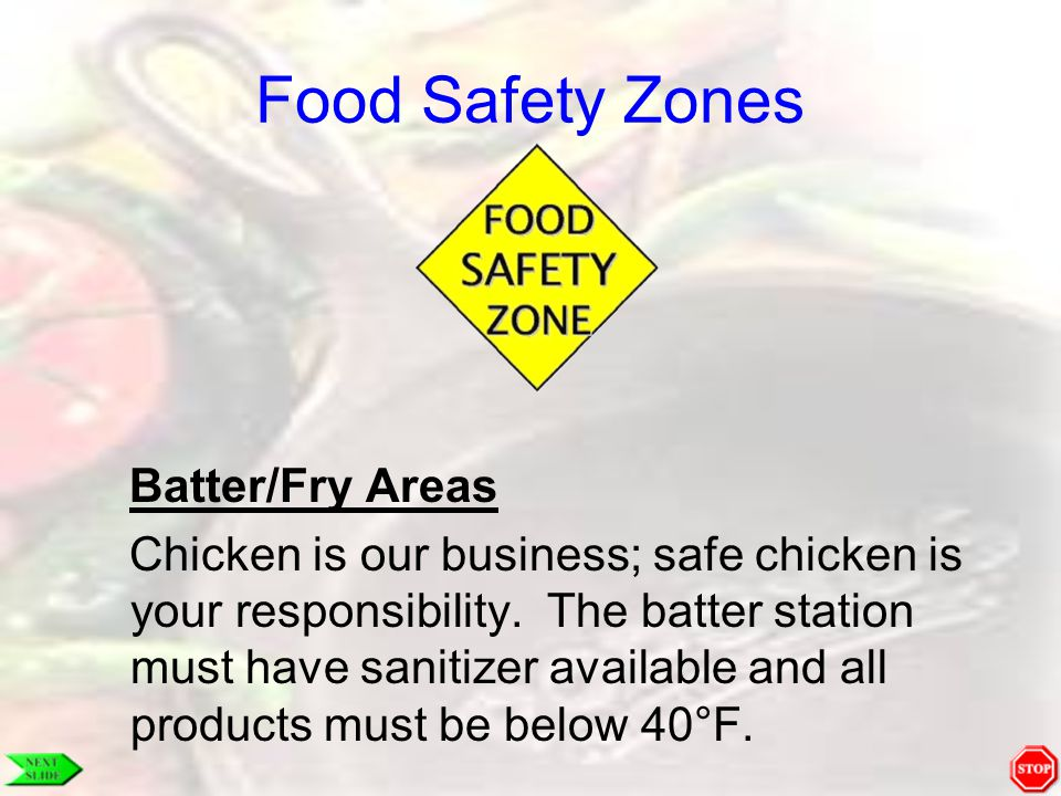 Food Safety Zones Batter/Fry Areas