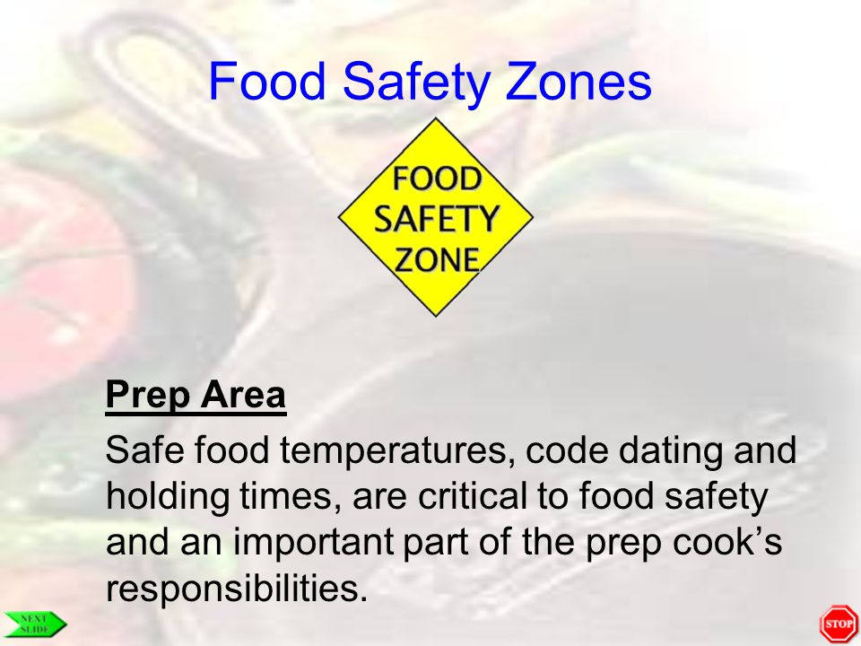 Food Safety Zones Prep Area