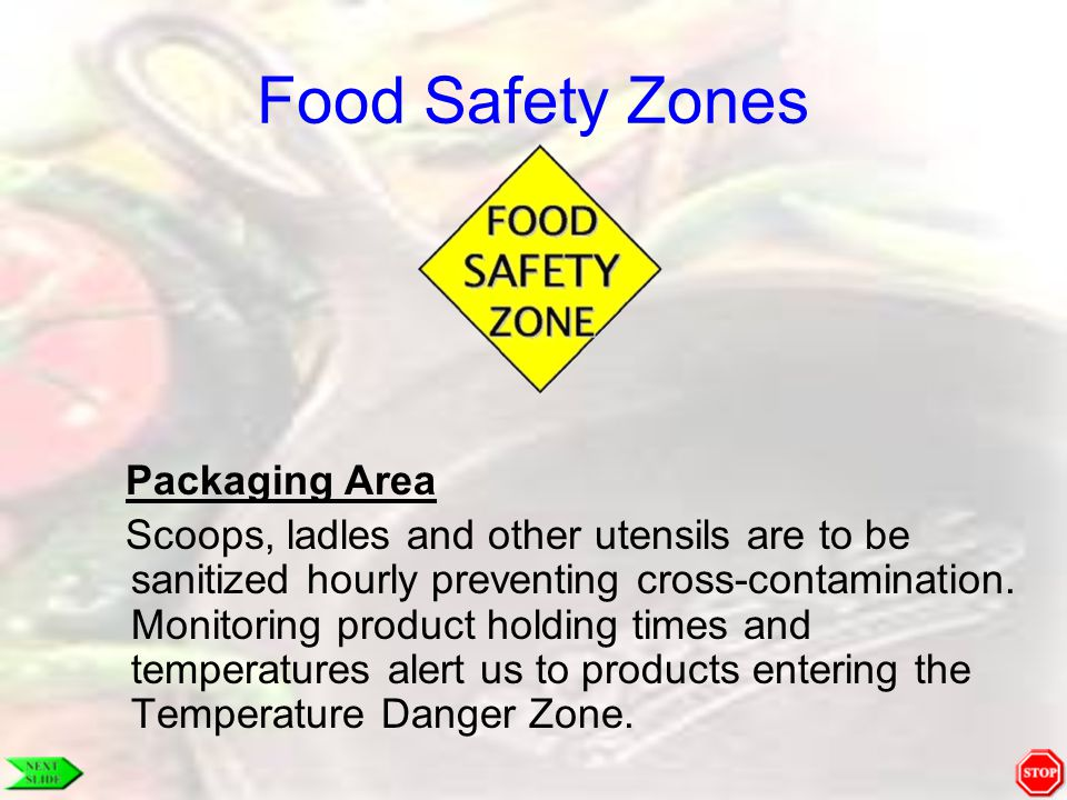 Food Safety Zones Packaging Area