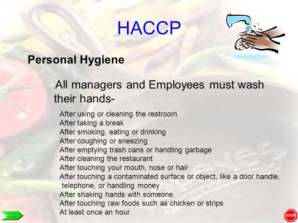 HACCP Personal Hygiene