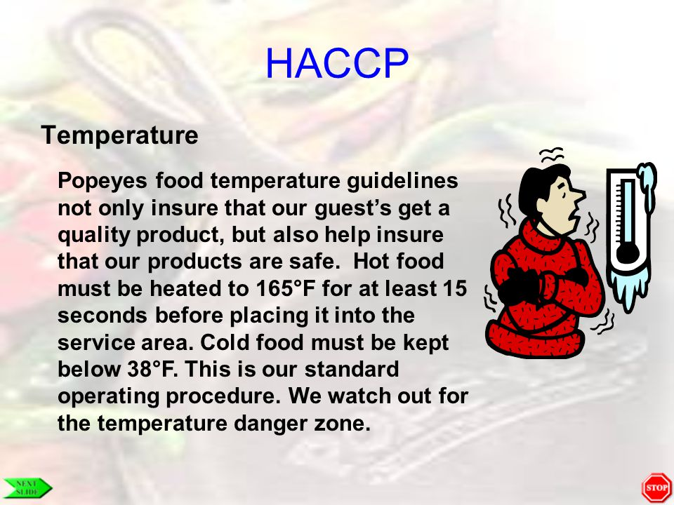 HACCP Temperature.