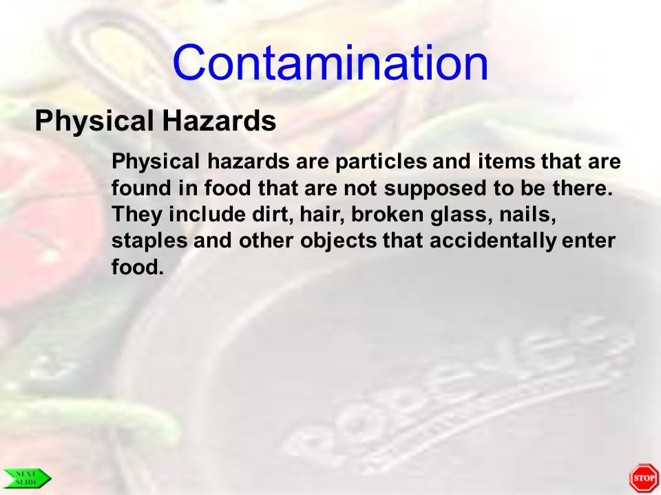 Contamination Physical Hazards