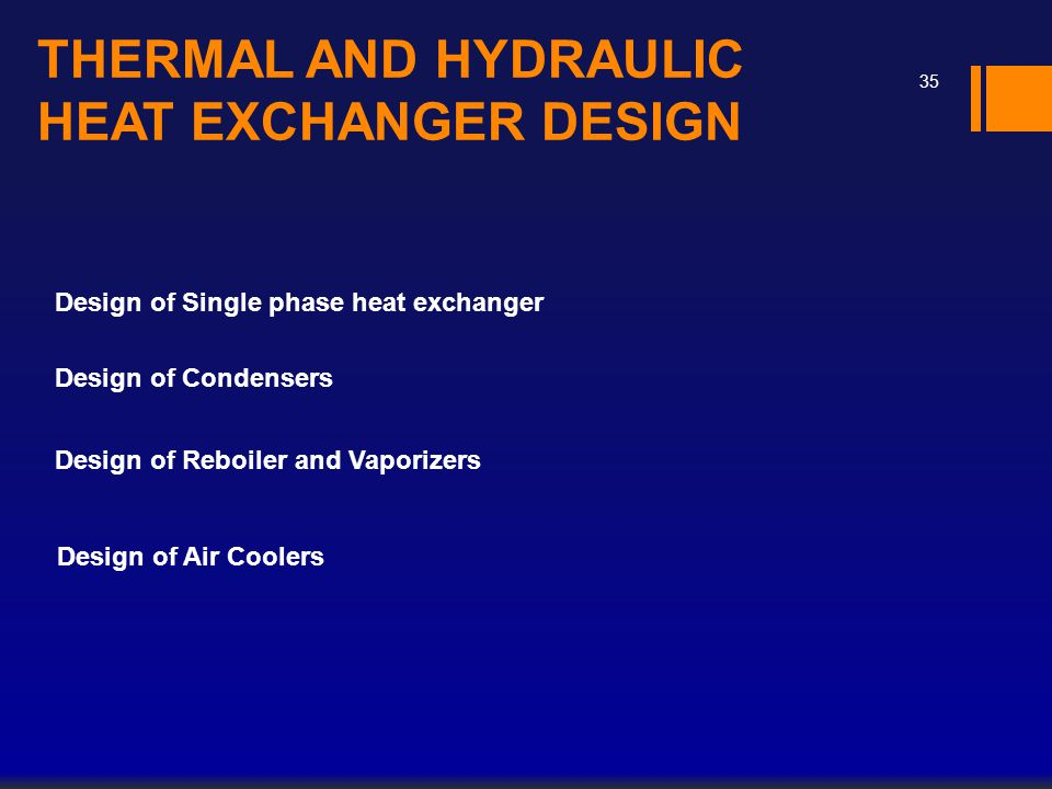 THERMAL AND HYDRAULIC HEAT EXCHANGER DESIGN
