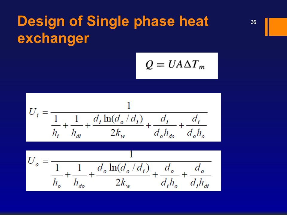 Design of Single phase heat exchanger