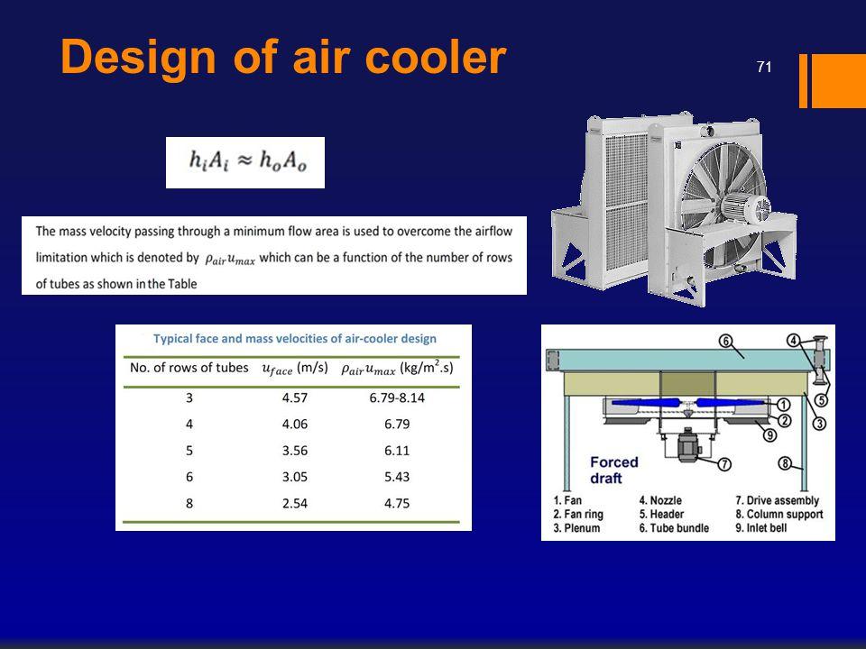Design of air cooler