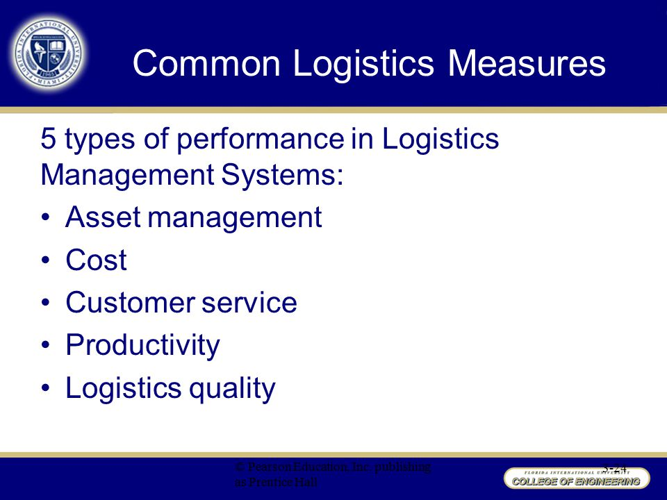 Common Logistics Measures