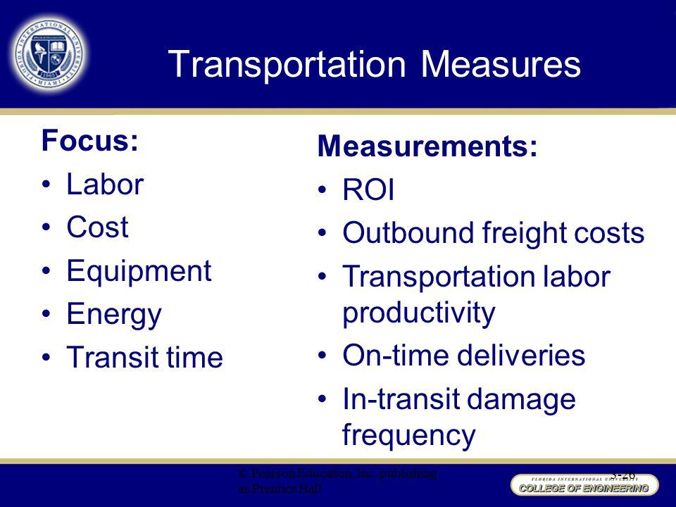 Transportation Measures