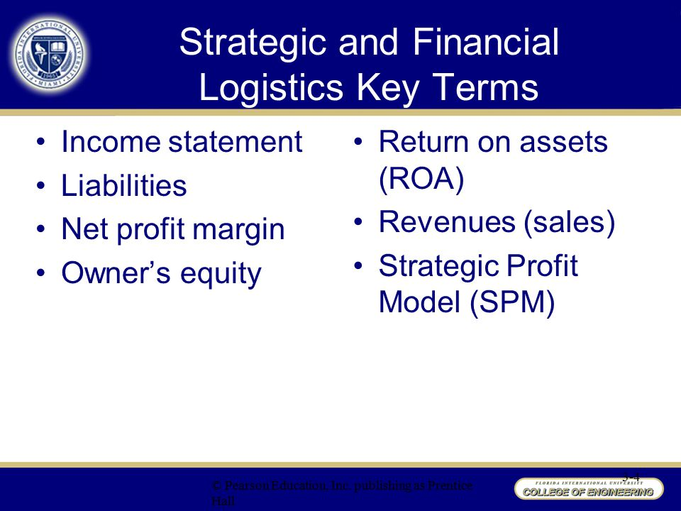 Strategic and Financial Logistics Key Terms