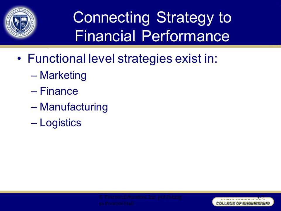 Connecting Strategy to Financial Performance