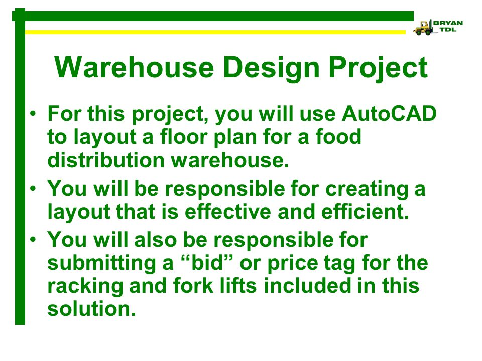 Warehouse Design Project