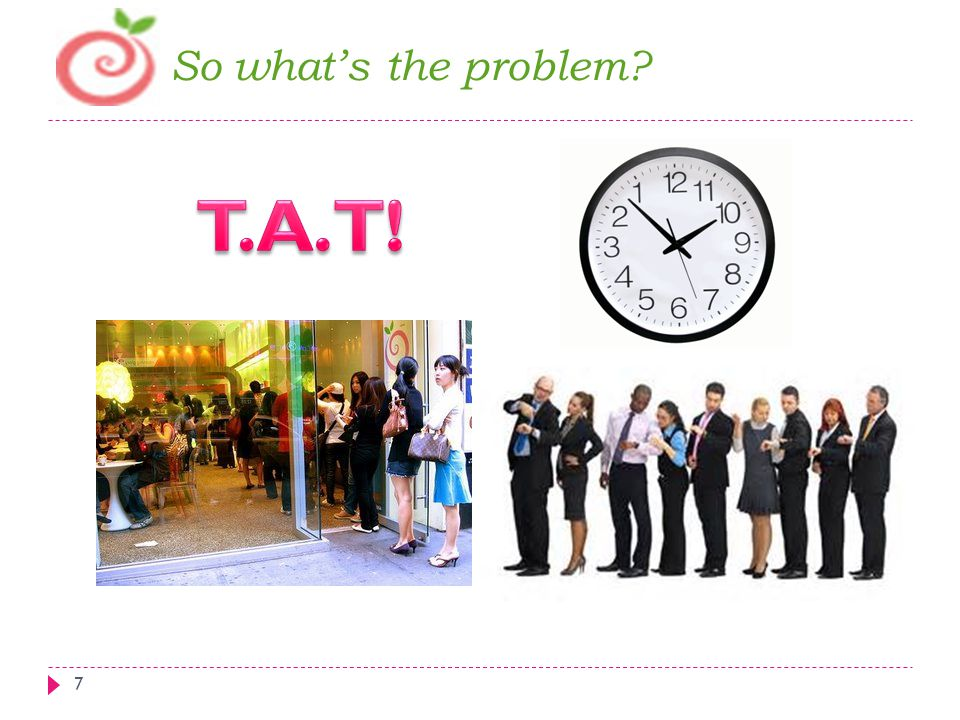 So what's the problem T.A.T!