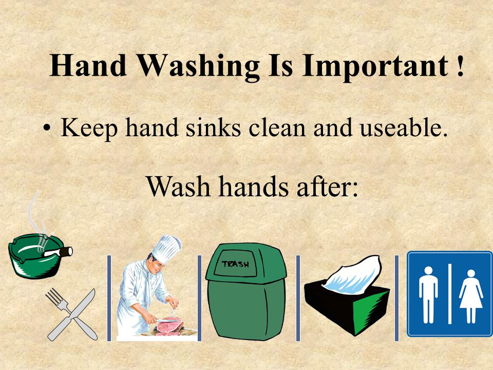 Hand Washing Is Important !