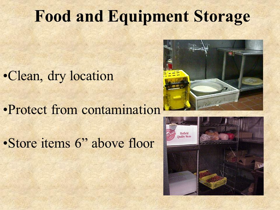Food and Equipment Storage