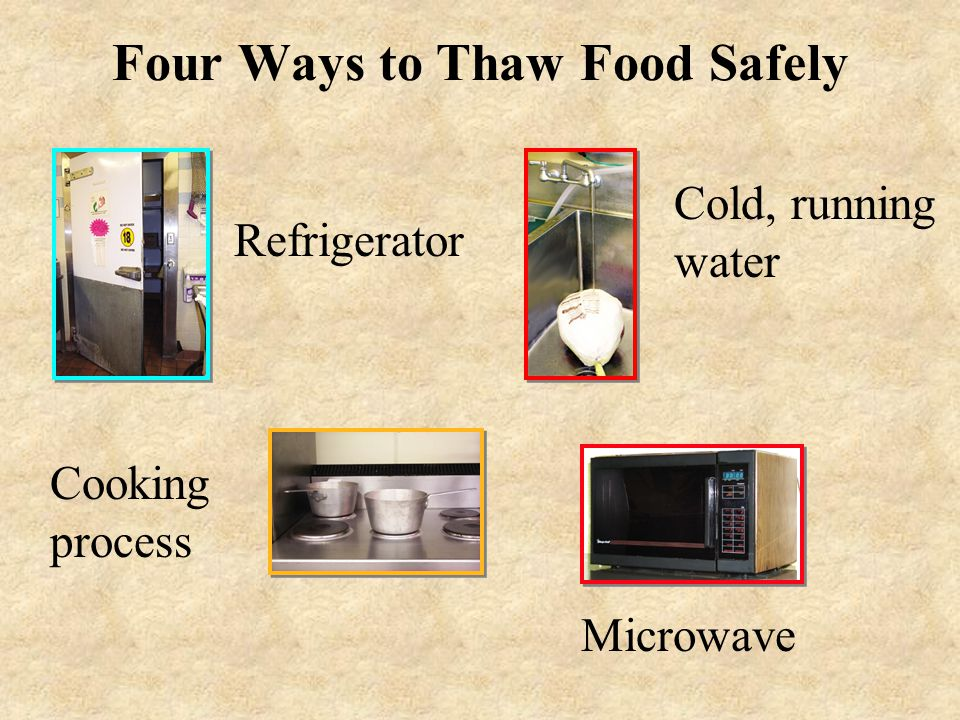 Four Ways to Thaw Food Safely