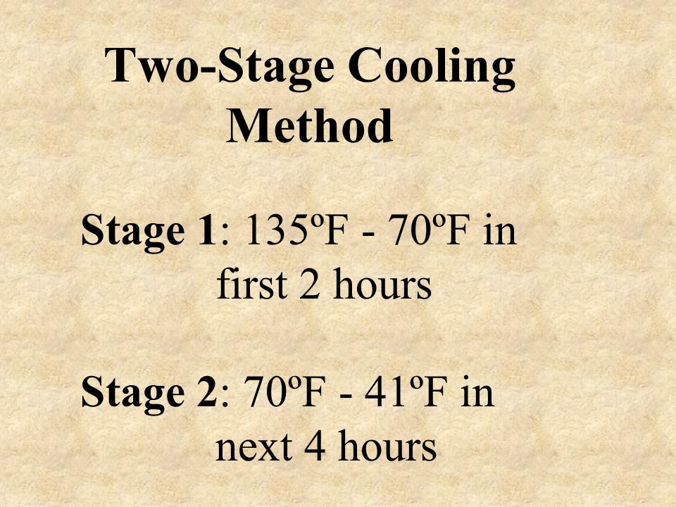 Two-Stage Cooling Method