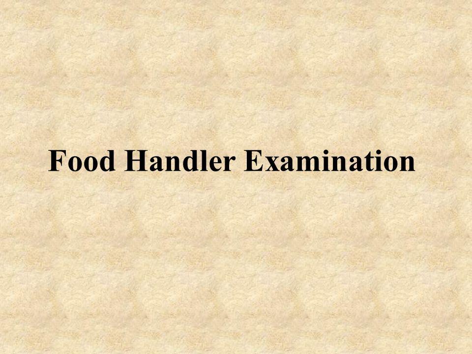 Food Handler Examination