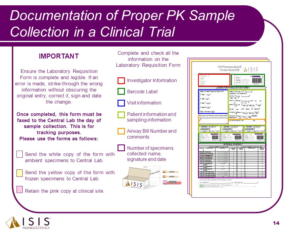Documentation of Proper PK Sample Collection in a Clinical Trial