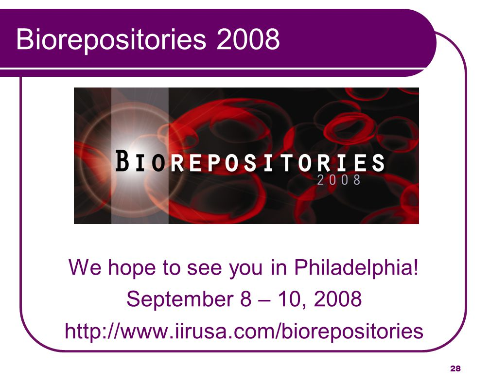 We hope to see you in Philadelphia!