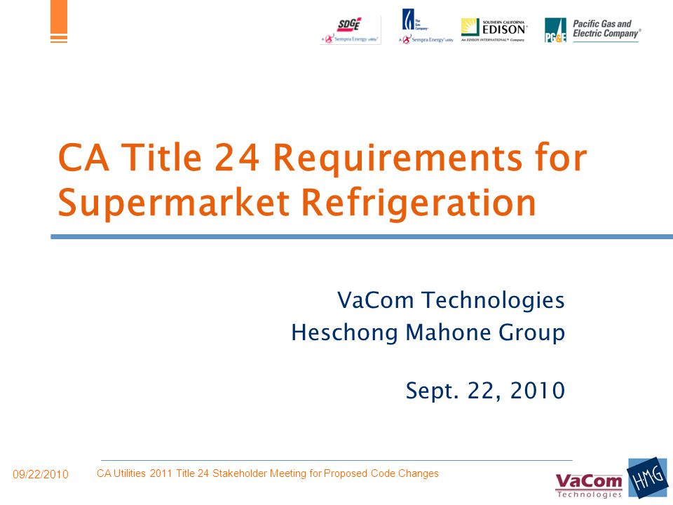 CA Title 24 Requirements for Supermarket Refrigeration