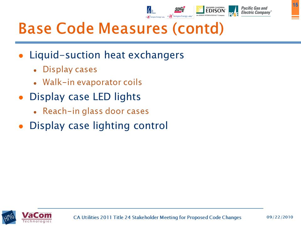 Base Code Measures (contd)