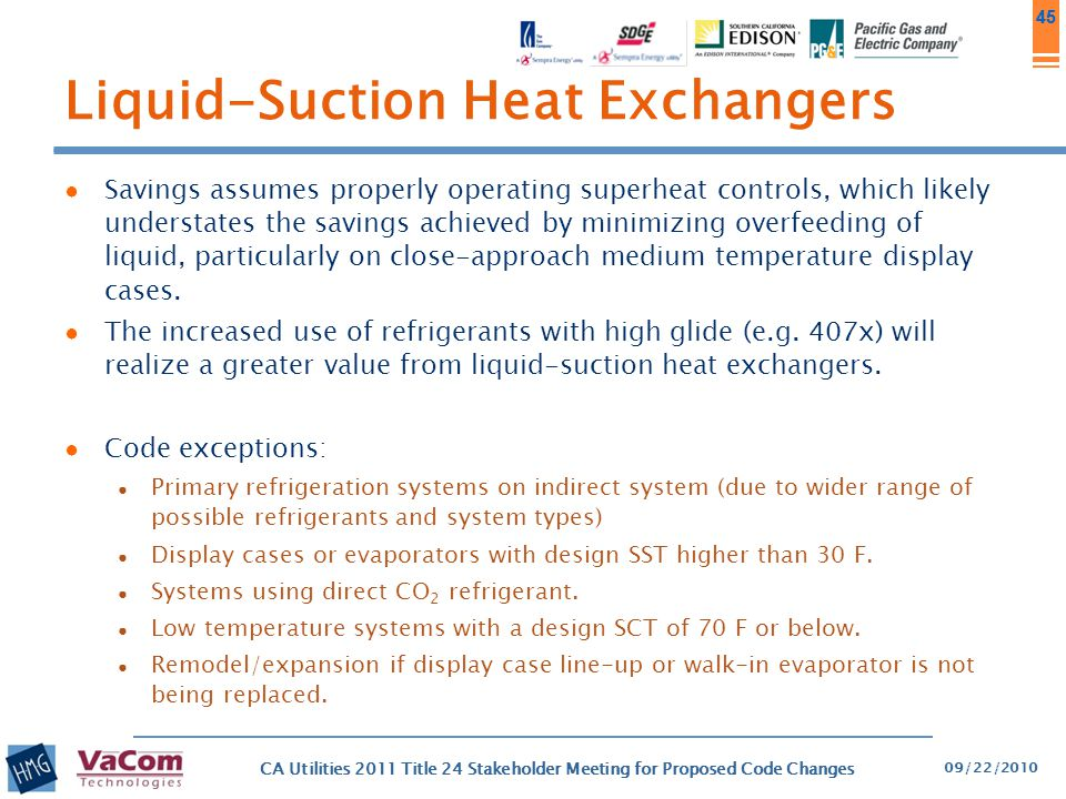 Liquid-Suction Heat Exchangers