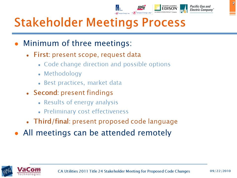 Stakeholder Meetings Process