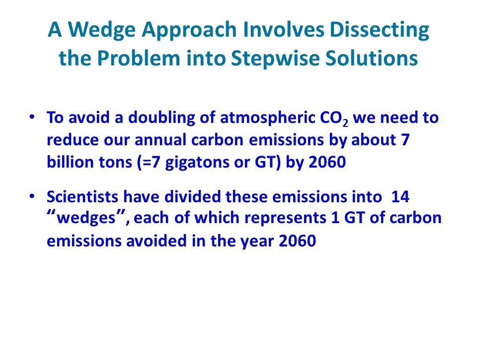 A Wedge Approach Involves Dissecting the Problem into Stepwise Solutions