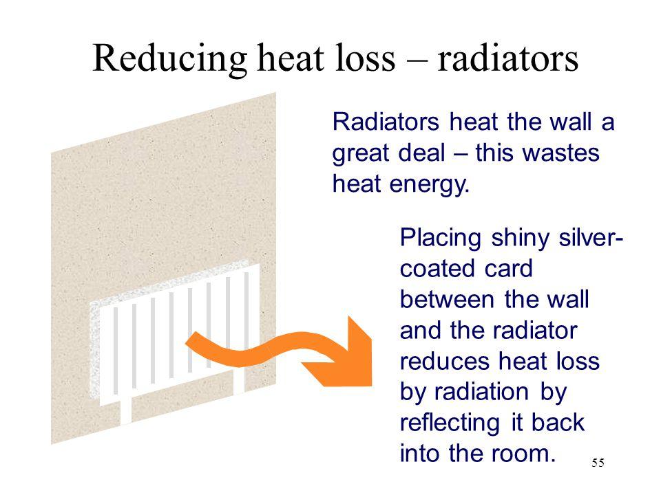 Reducing heat loss – radiators
