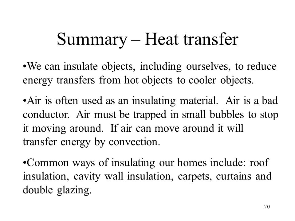 Summary – Heat transfer