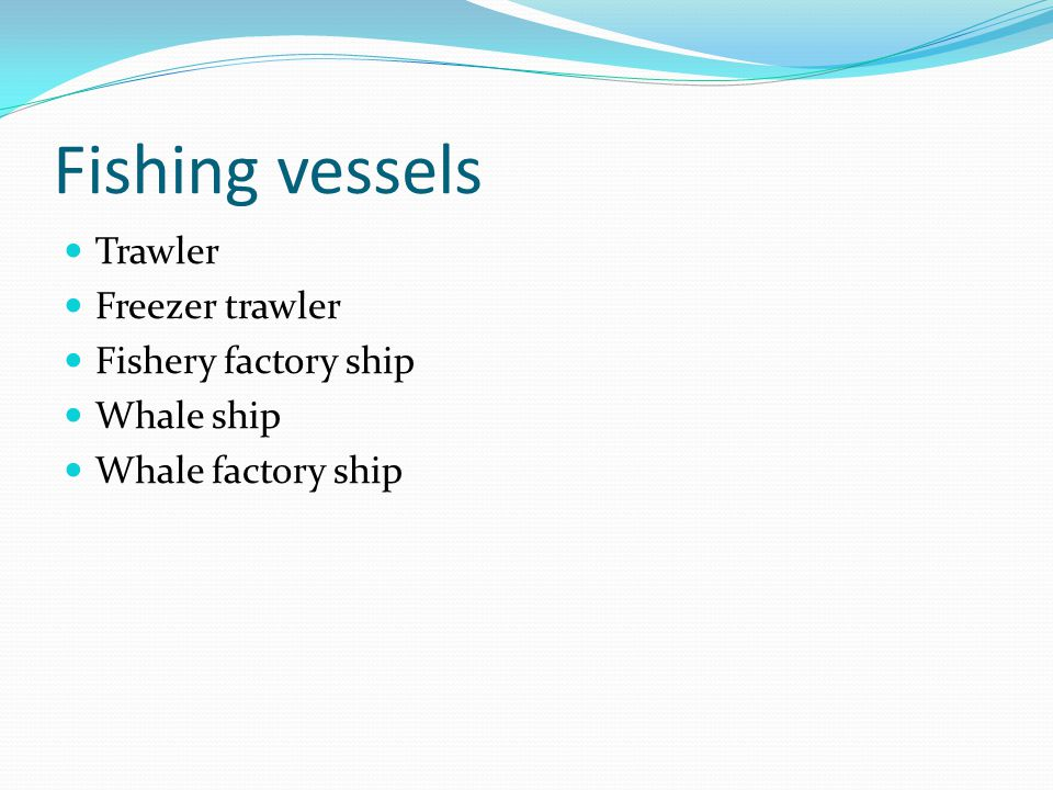 Fishing vessels Trawler Freezer trawler Fishery factory ship