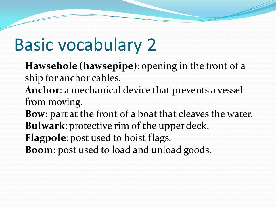 Basic vocabulary 2