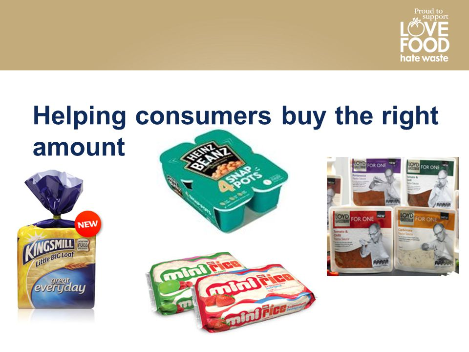 Helping consumers buy the right amount