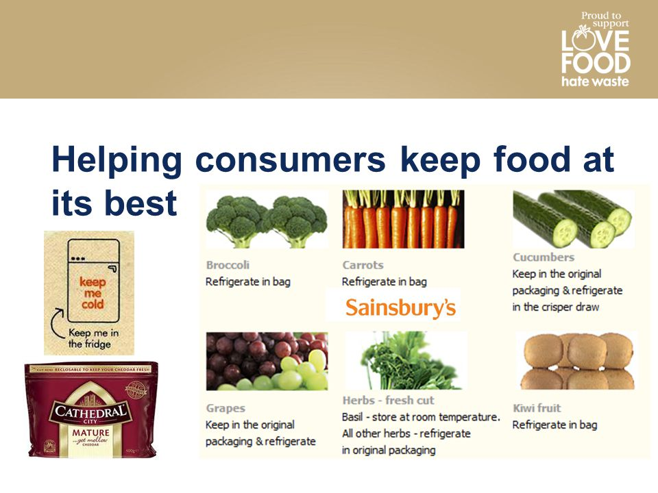 Helping consumers keep food at its best