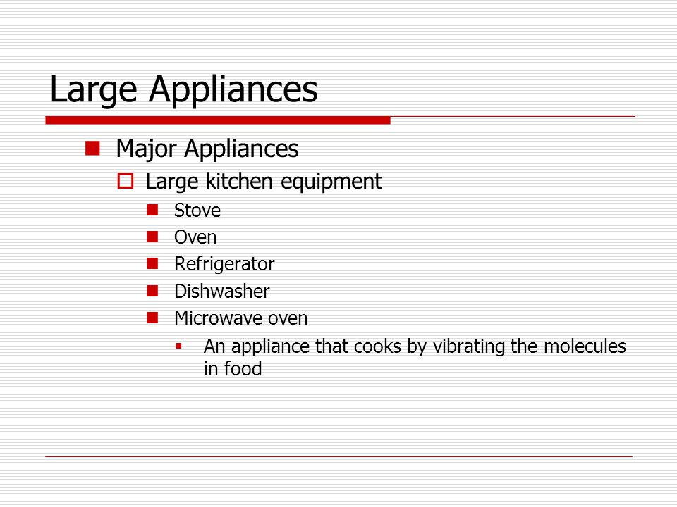 Large Appliances Major Appliances Large kitchen equipment Stove Oven