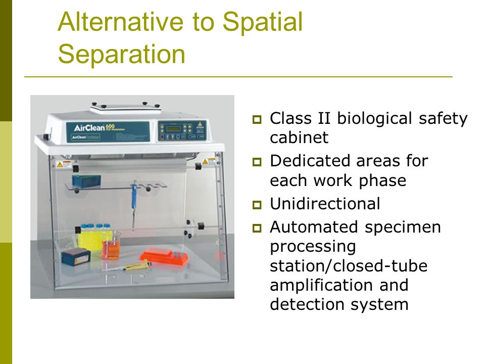 Alternative to Spatial Separation
