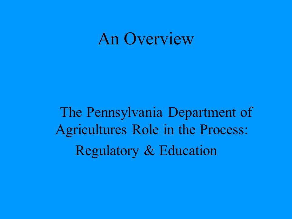 An Overview Regulatory & Education