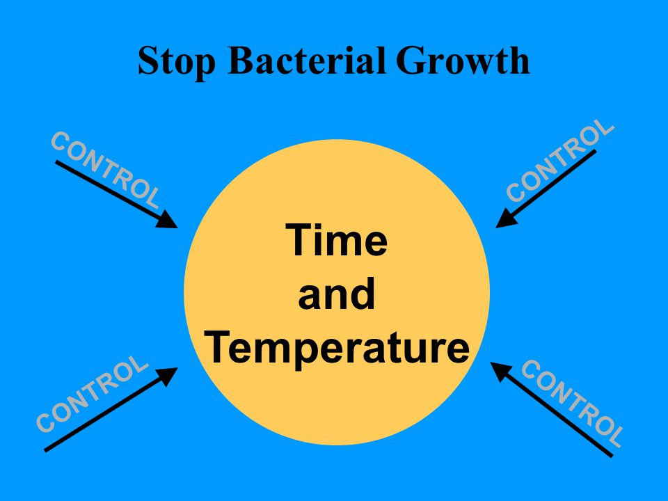 Time and Temperature Stop Bacterial Growth CONTROL CONTROL CONTROL