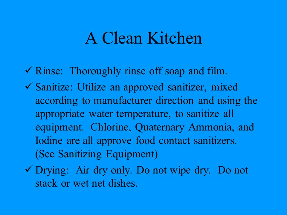 A Clean Kitchen Rinse: Thoroughly rinse off soap and film.