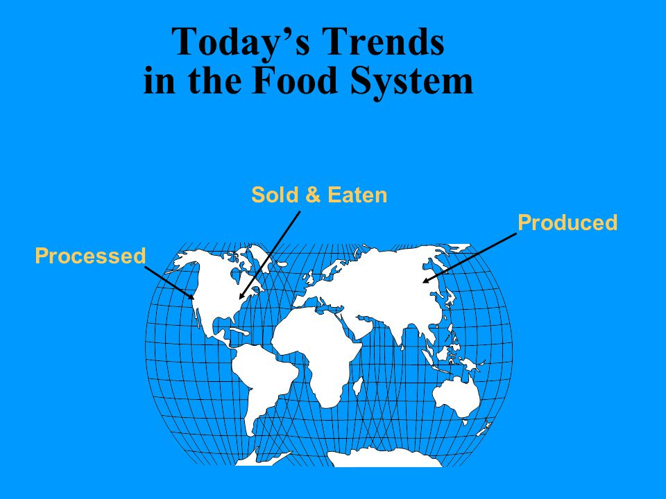 Today's Trends in the Food System