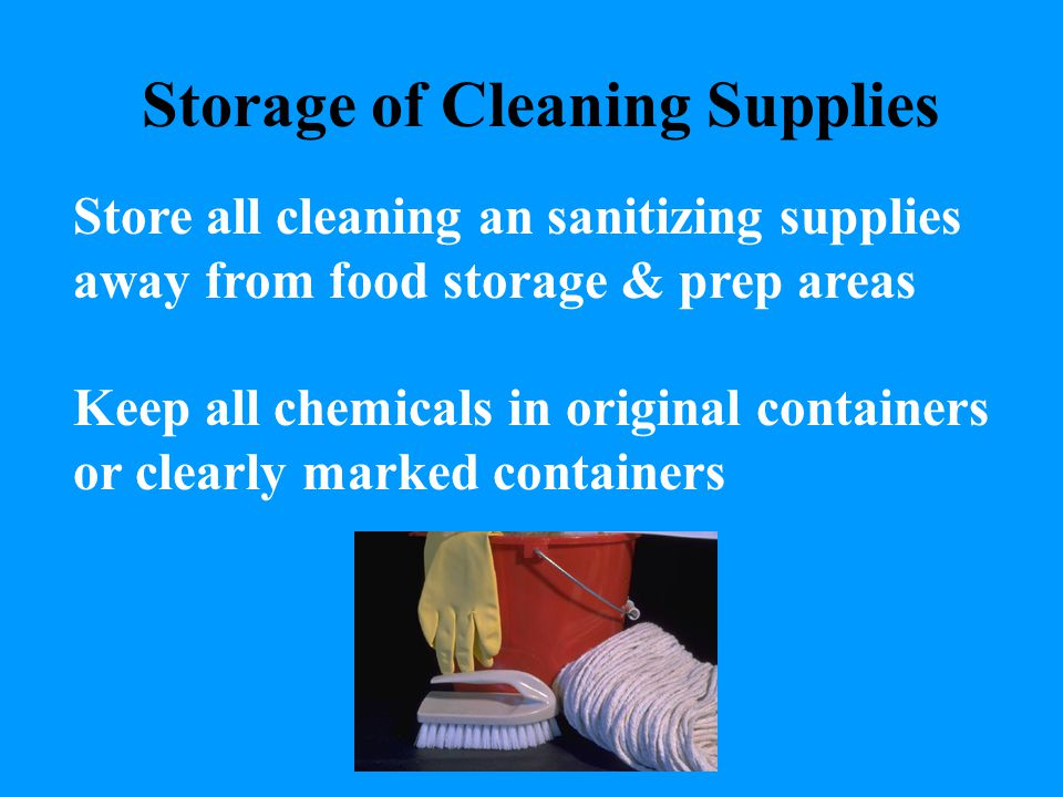 Storage of Cleaning Supplies