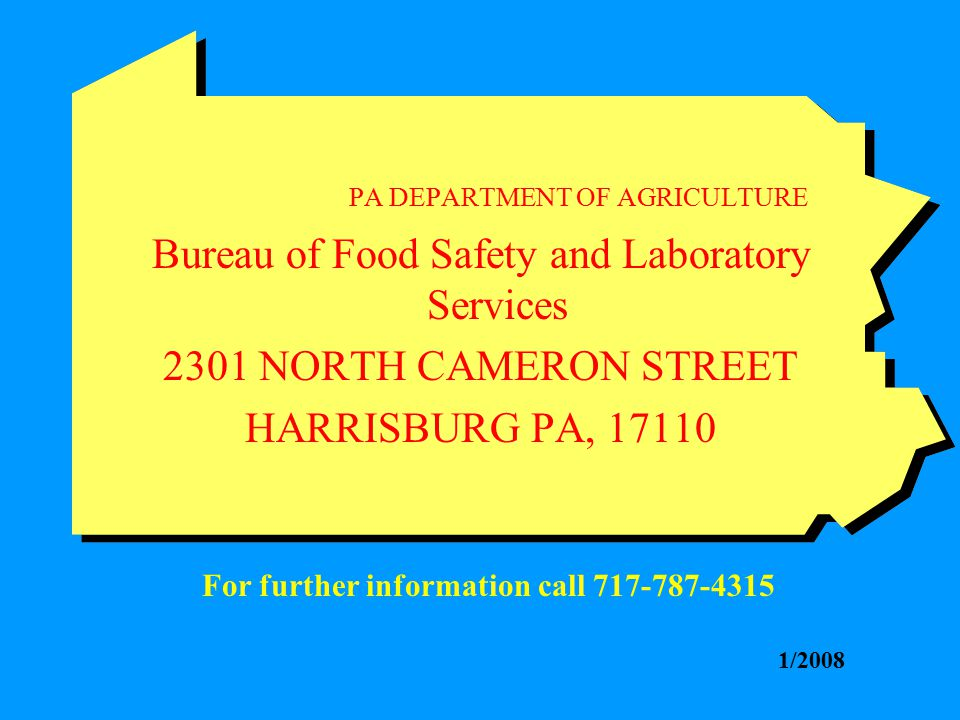 Bureau of Food Safety and Laboratory Services