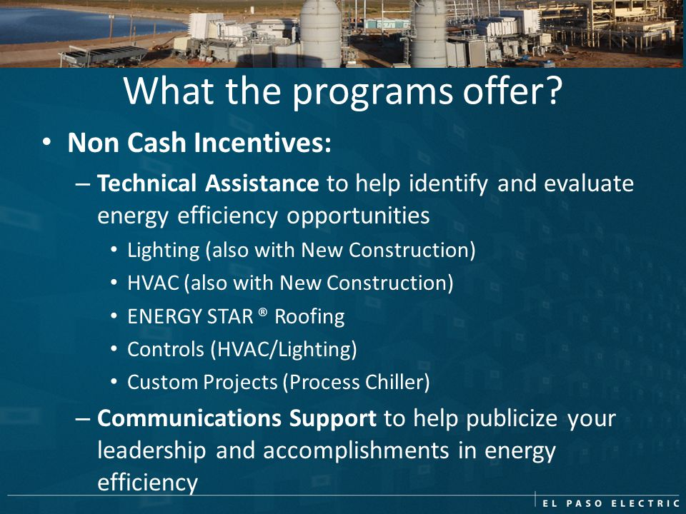 What the programs offer