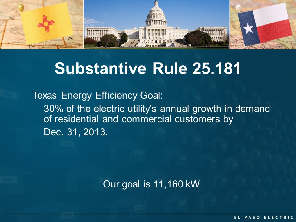 Substantive Rule 25.181