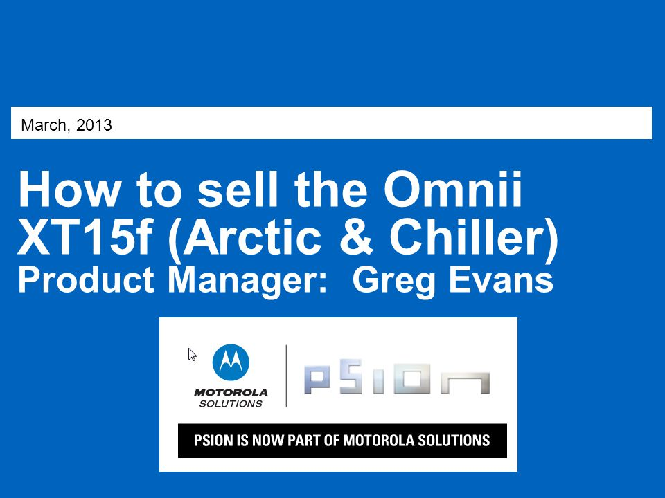 How to sell the Omnii XT15f (Arctic & Chiller)