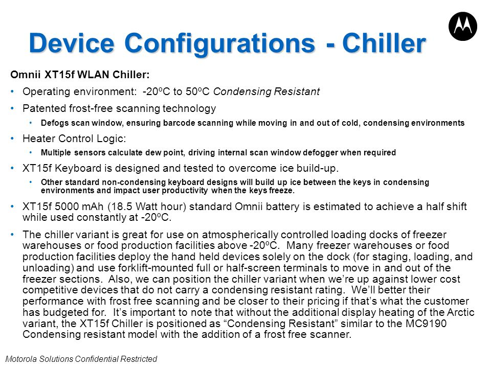 Device Configurations - Chiller