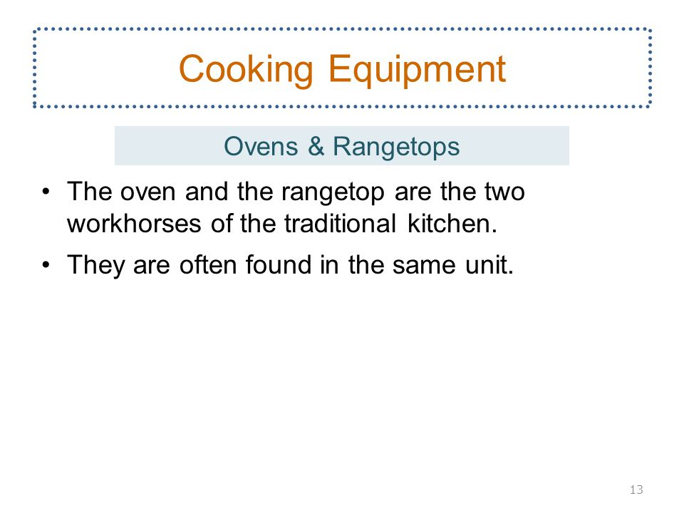 Cooking Equipment Ovens & Rangetops
