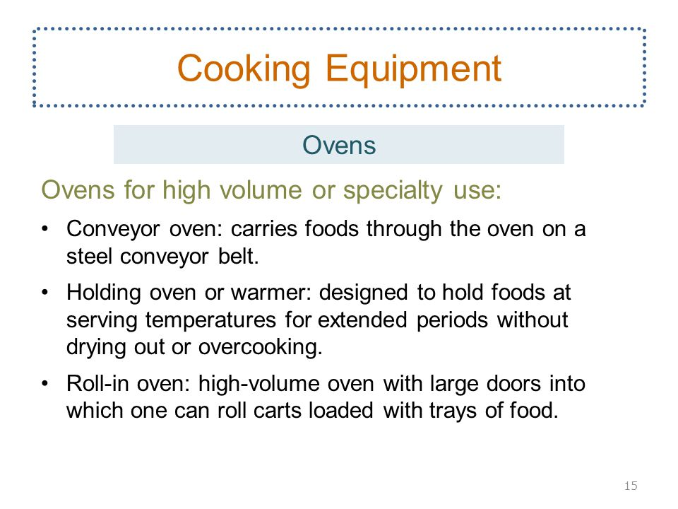 Cooking Equipment Ovens Ovens for high volume or specialty use: