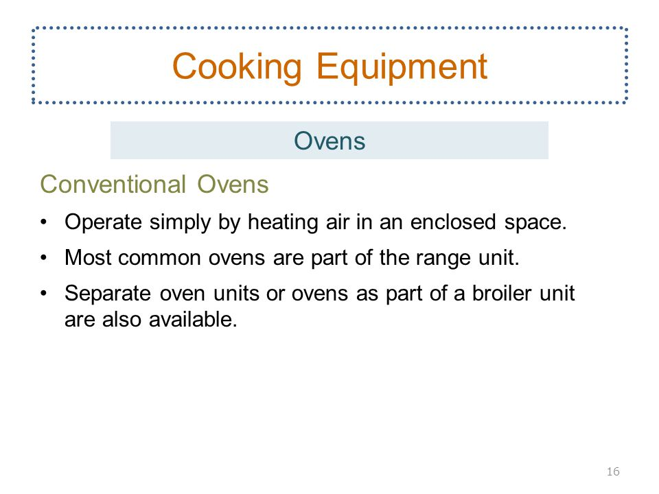 Cooking Equipment Ovens Conventional Ovens